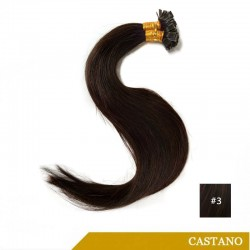 Extension Con Cheratina Flat Tip Castano
