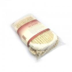 Set bagno guanto esfoliante e striscia in sisal