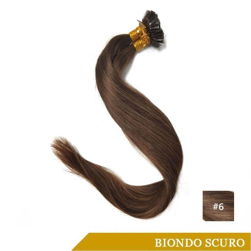 Extension Con Cheratina Flat Tip Biondo Scuro